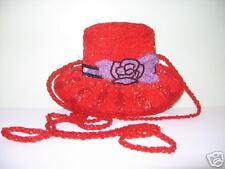 Beaded  Red Hat Handbag