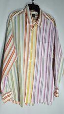 IKE Behar XL Men's Button Front Casual Shirt Striped LS 100%  Cotton