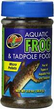 (2 Pack) Zoo Med Aquatic Frogs and Tadpoles Healthy Food Micro Pellet 2 ounces