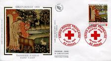 FRANCE FDC - 2915 1 CROIX ROUGE - ARRAS 26 Novembre 1994 - LUXE sur soie