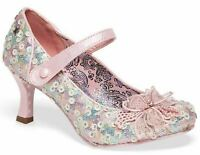 Ladies Womens Court Shoes Mary Jane Mid Heel Slip On Bar Couture Size