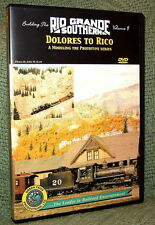 "20038 MODEL RAILROAD VIDEO DVD ""BUILDING THE RGS #9"" DOLORES TO RICO"