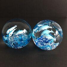 2 Stück Paperweight / Briefbeschwerer Glas Kugel Glasdeko Wohndeko ca. 7 cm