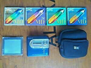Sony MZ-NH600 HI-MD Net Walkman Portable MiniDisc Player Recorder + Extras