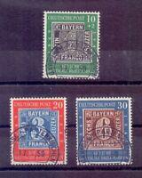 Bund 1949 - MiNr.113/115 - Sehr schön rund gestempelt - Michel 140,00 € (802)