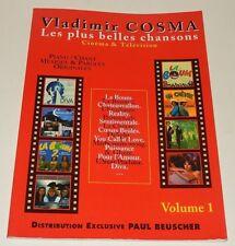 VLADIMIR COSMA Les plus belles chansons CINEMA & TELEVISION Volume 1 - SONGBOOK