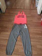 VICTORIA'S SECRET Pink  Campus Pants IN. 31' Logo Set Medium Tank Halloween