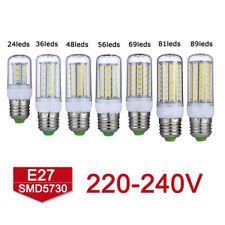E27 E14 B22 G9 GU10LED Maïs Ampoule 5730 Chaud SMD Blanc Froid 360° Lamp220V