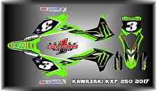 Kawasaki KXF KX  250 250F 2017   SEMI CUSTOM GRAPHICS KIT eli