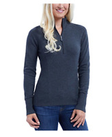 NEW Eddie Bauer Ladies' Half Zip Pullover (Charcoal, XXL)
