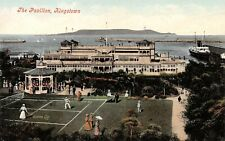 Postcard, Kingstown Dún Laoghaire Co Dublin, The Pavilion, Tennis Players