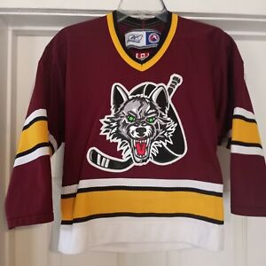Reebok AHL Chicago Wolves Sewn YOUTH Size Small/Medium Hockey Jersey NWOT