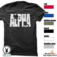 Alpha Gym Rabbit TShirt Workout BodyBuilding Fitness Motivation F342