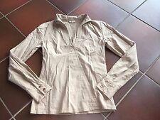Damen Oberteil Bluse Shirt braun mit Reißverschluss Gr. 34/36 (42) von Prego