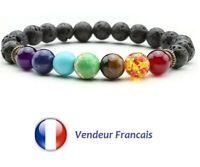 Bracelet En Oeil De Tigre Et 7 Chakras En Pierre Naturelle Lithothérapie France
