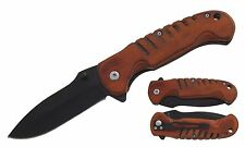Wholesale Lot of Spring Assisted Wood Handle Knives 6PCS $5.00 ea