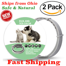 2 Pack - Natural Flea and Tick Collar for Cats & Small Dogs 8 Months Control Usa