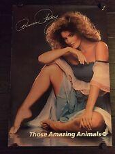THOSE AMAZING ANIMALS PRISCILLA PRESLEY ORIGINAL ABC TV PROMO POSTER 1980, RARE!
