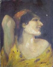Jugendstil Mädchenportrait - Zigeunerin - sign. Simonyi - Öl Leinwand