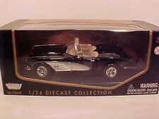 1959 Chevy Corvette Convertible Die-cast Car 1:24 Motormax 7.5 inch Black
