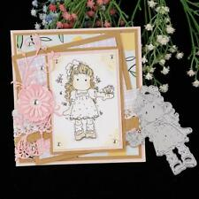 SALE**CUTTING DIES*GIRL AND BUTTERFLY*Scrapbook*Birthday**Card**Topper
