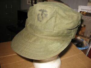 USMC 1980's fatique cap, utility. Large.