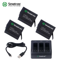 Smatree Battery (3-Pack) With 3-Channel Charger for Gopro HERO 7/6/5/Hero 2018