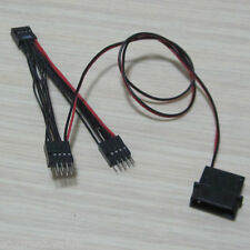 mainboard USB 9pin female to 2-port 9p male extend cable + 5V 4pin power cable