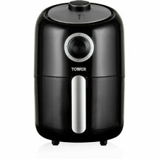 Tower T17026 Fryer Compact Air Fryer 1000 Watt With Timer Black