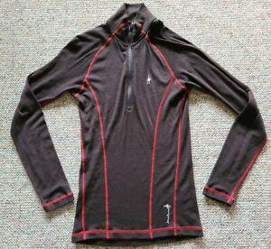 Smartwool Men's 100% Merino Wool 1/2 Zip Pullover Sweater Sz Medium Color Brown