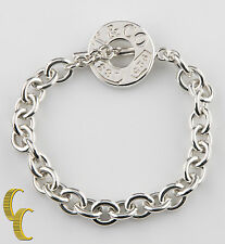 """Tiffany & Co. 1837 Sterling Silver Toggle Chain Link Bracelet 7"""" Retired Gift!"""
