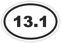 13.1 Oval Sticker Running Half Marathon Runner Mile Run for Bumper Fridge Laptop