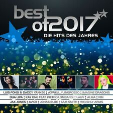 BEST OF 2017-DIE HITS DES JAHRES, AVICII, ALMA, IMAGINE DRAGONS,RIN 2 CD NEW!