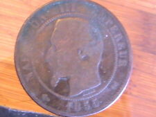 FRANCE 1855-B FRENCH  10 Centimes Coin Bronze