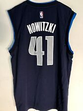 Adidas NBA Jersey Dallas Mavericks Dirk Nowitzki Navy Alt sz L