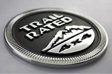 Car Truck Off Road Rear Trunk Black Aluminum Trail Rated 4x4 Logo Sticker Emblem