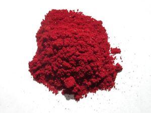 Aker Fassi / Red Poppy Powder 100% Natural VEGAN Glitter Lipstick Makeup 10gr