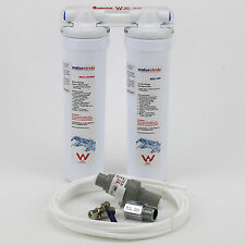 2 stage water filter for fridge using quick change with tube and PLV 0.5 micron