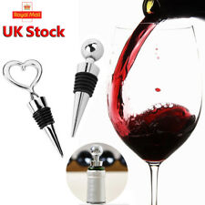2 x Chrome Champagne Wine Beer Bottle Stopper Cork Party Drink Sealer Plug Bar