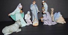 Vintage Avon Bethlehem Nativity Glazed Porcelain w/ Original Boxes (8 pc set)