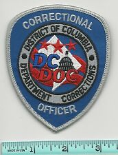 Washington DC District of Columbia Corrections Officer DOC Police Shoulder Patch
