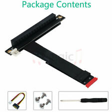 M.2 NGFF NVMe Key M to PCIe 3.0 X16 Extension Cable (90°Right Angle PCI-E Slot)