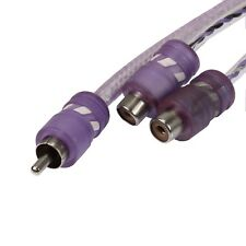 VooDoo CABLE Y adapter 1 male 2 Female Audio RCA PURPLE