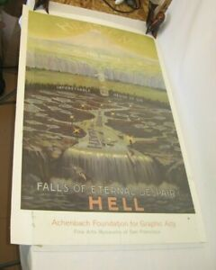 Fine Arts Museums of San Francisco Poster FALLS OF ETERNAL DISPAIR lithograph