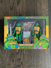 NECA Teenage Mutant Ninja Turtles | Leonardo + Donatello | TMNT Toon 2-pack NIB