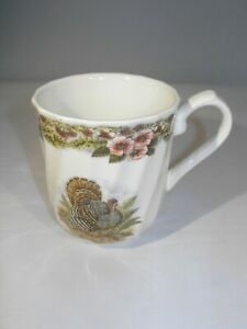 """Myott Factory Archive """"Thanksgiving"""" Mug/Cup By Queen's from Orig. Engraving"""