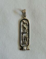 Egyptian Personalized Cut-Out Silver Cartouche Arabic or Hieroglyphic 3-9 Letter