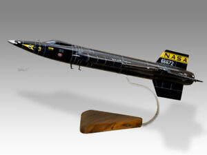 North American X-15 NASA 66672 Solid Kiln Dried Mahogany Wood Airplane Model