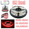 5M 12v RED LED STRIP LIGHT 5050 300SMD 18LM/SMD 60SMD/m BRIGHT IP65 WATERPROOF