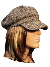 Brown and Multi Colored Fashion Hat
